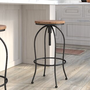 Keighley Adjustable Height Bar Stool by Three Posts