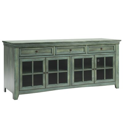 "Nido TV Stand for TVs up to 70"" Color: Antique Sage by Alcott Hill"