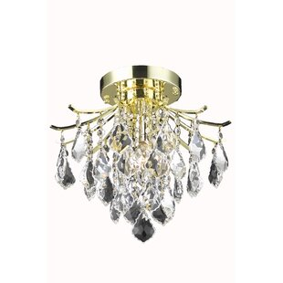 Amelia 3-Light Semi Flush Mount by Living District