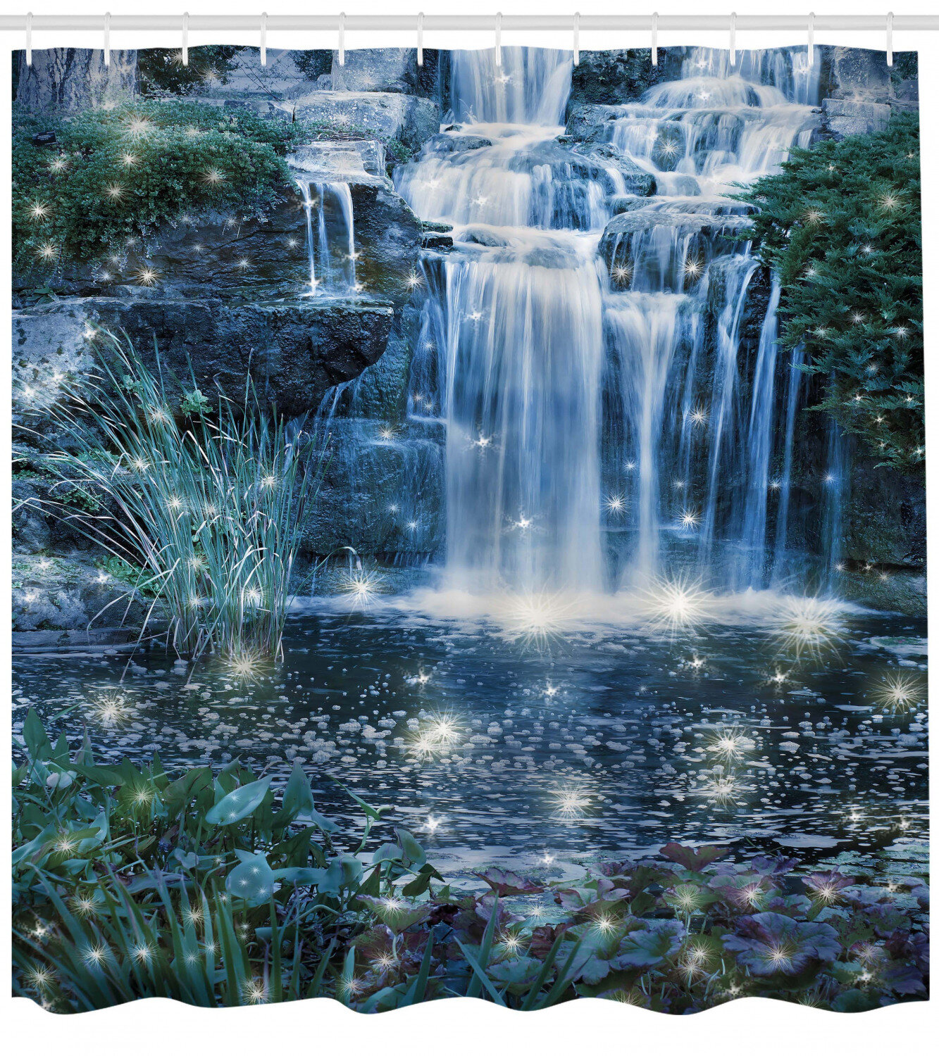 East Urban Home Waterfall Magic Fairy Cascade Shower Curtain Set Reviews Wayfair