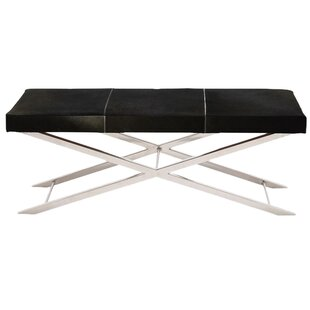 Ebern Designs Westbrook Leather Bench