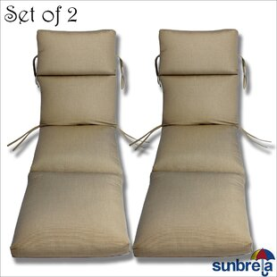 Indoor/Outdoor Sunbrella Chaise Cushion (Set of 2)