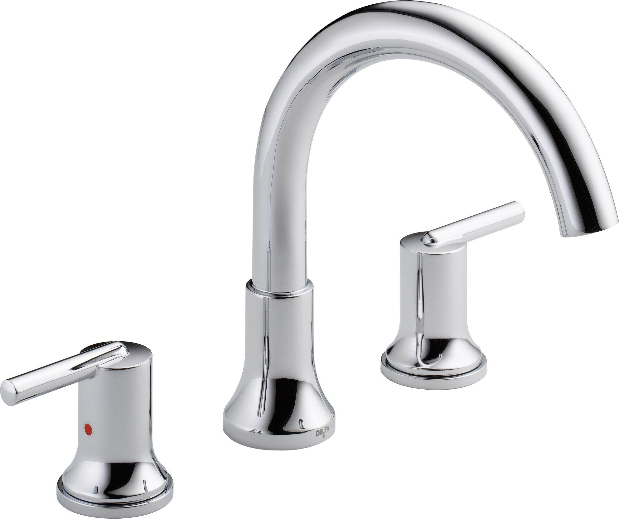 Trinsic Double Handle Deck Mounted Roman Tub Faucet Trim Reviews Allmodern