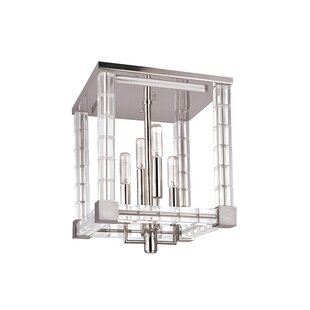 Everly Quinn Montauk 4-Light Semi Flush Mount