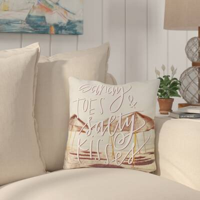 Citium Sandy Toes Salty Kisses Outdoor Throw Pillow