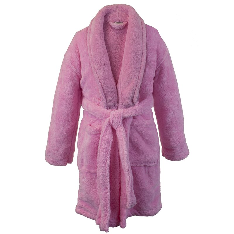 Harriet Bee Basel Kids Shawl Fleece Bathrobe   Reviews  8c367d2f6