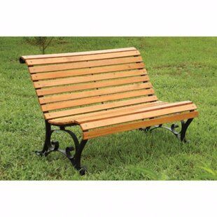 Alcott Hill Carone Wood Bench