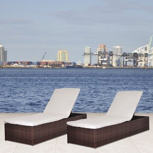 Beachcrest Home Aquia Creek Chaise Lounge with Cushion (Set of 2)