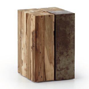 Gallimore Solid Teak Wood Stool By Union Rustic