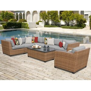 Laguna 8 Piece Sectional Seating Group with Sunbrella Cushion  sc 1 st  Wayfair : sunbrella sectional - Sectionals, Sofas & Couches
