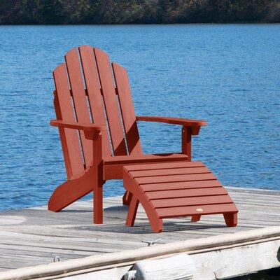 Plastic Adirondack Chairs With Ottoman.Highpoint Plastic Adirondack Chair With Ottoman Alcott Hill