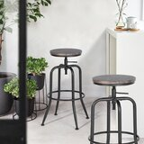 Grundy Swivel Adjustable Height Bar Stools (Set of 2)