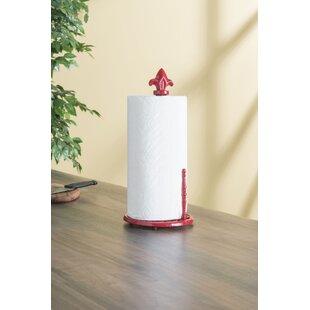 Cast Iron Fleur De Lis Free Standing Paper Towel Holder