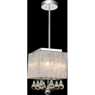 Water Drop 1-Light Square/Rectangle Pendant by CWI Lighting