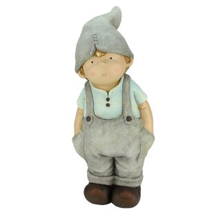 Northlight Seasonal Young Boy Gnome Pockets Garden Statue