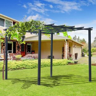 Arkose 3m X 3m Metal Pergola By Sol 72 Outdoor