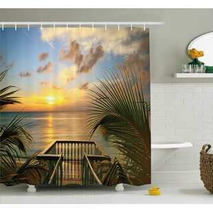 Markita Mediterranean Horizon Sea From Wooden Terrace Balcony Fences Holiday Life Photo Single Shower Curtain