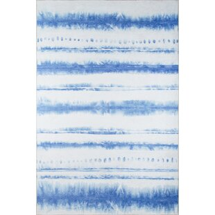 Sand and Surf Blue/White Area Rug Novogratz