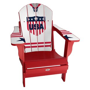 My Custom Sports Chair USA Classic Away Plastic Folding Adirondack Chair