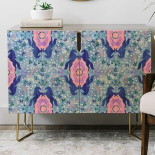 Schatzi Unicorn Damask Credenza by East Urban Home