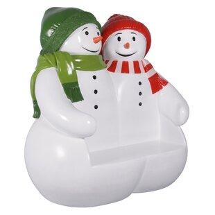 Powder Pals Snowman Fiberglass Garden Bench