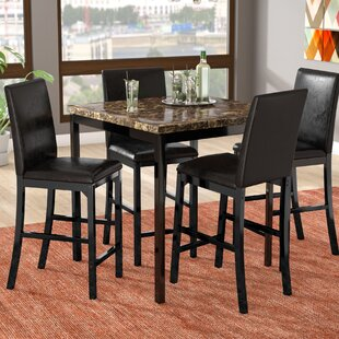 Della 5 Piece Dining Set Latitude Run