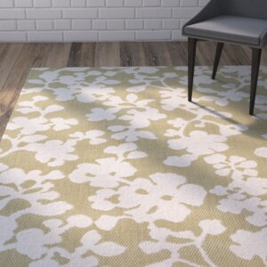 Baton Rouge Green/White Indoor/Outdoor Area Rug