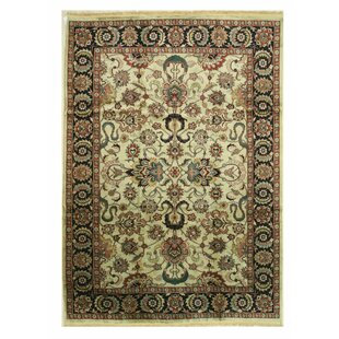 Compare & Buy One-of-a-Kind Arango Hand-Knotted 10' x 13'11 Wool Beige/Black Area Rug By Isabelline