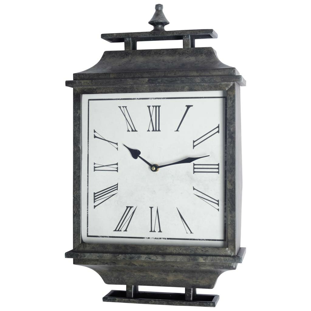 Desk Clock With Metal Frame Birch Lane