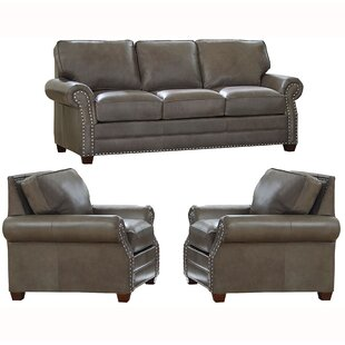 Order Pedigo 3 Piece Leather Living Room Set by Canora Grey Reviews (2019) & Buyer's Guide
