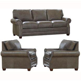 Pedigo 3 Piece Leather Living Room Set by Canora Grey