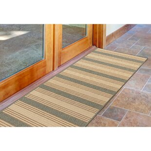 Ricki Stripe Beige/Aqua Indoor/Outdoor Area Rug