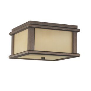 Read Reviews Olympia 2-Light Outdoor Flush Mount By Brayden Studio