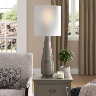 Adilene Rippled 32.5 Table Lamp