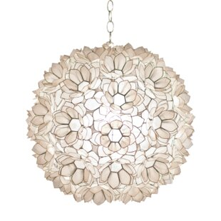 Capiz Shell Lotus 1-Light Pendant by Worlds Away