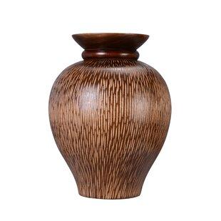 Nyles Decorative Urn Mango Wood Table Vase
