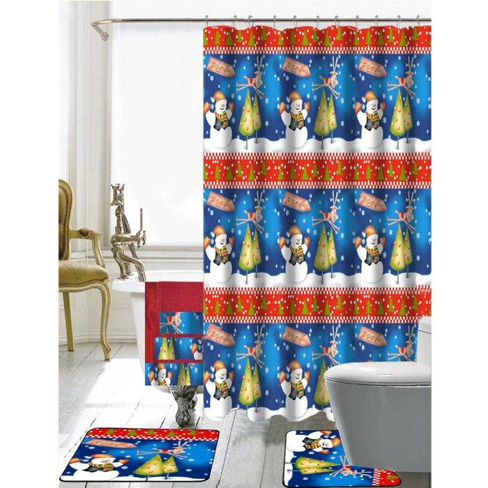 Julio 18 Piece Shower Curtain Set + Hooks