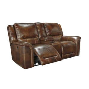 Jayron Leather Reclining Sofa by Signature Design by Ashley
