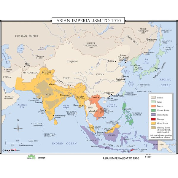 Universal map world history wall maps asian imperialism universal map world history wall maps asian imperialism reviews wayfair gumiabroncs Gallery