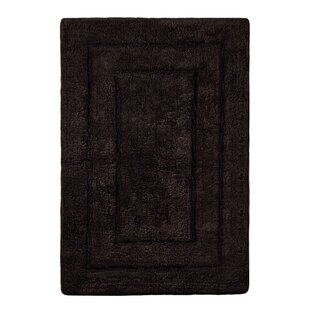 Abraham Ultra Soft Rectangular Embossed Solid Bath Mat