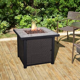 Peaktop Outdoor Propane Gas Fire Pit Table