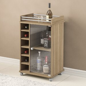 Kayleigh Glass Door Bar Cart