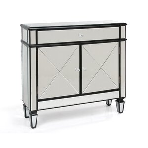 Arabella Mirrored 1 Drawer and 2 Door Accent Cabinet
