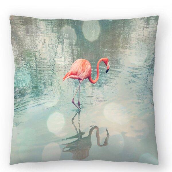 East Urban Home The Gingham Owl Dreamy Flamingo Throw Pillow Wayfair