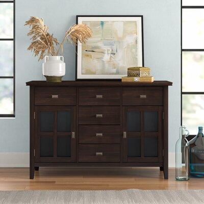 """Three Posts Gosport 54"""" Wide 6 Drawer Sideboard  Color: Dark Chestnut Brown"""