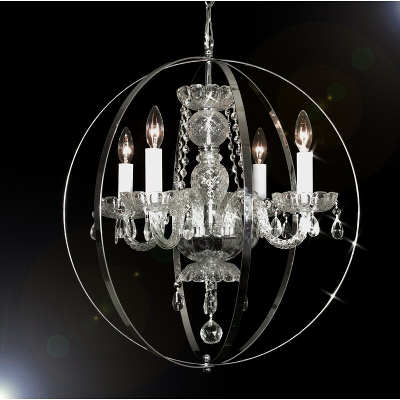 House Of Hampton Meredith 4 Light Candle Style Globe Chandelier Wayfair