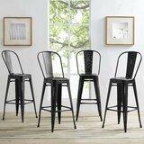 Pedro Side Metal 29.5 Bar Stool (Set of 4) by Laurel Foundry Modern Farmhouse®