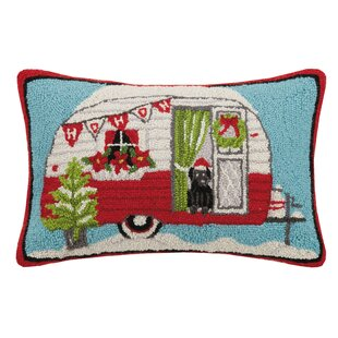 Osias Holiday Camper Wool Lumbar Pillow