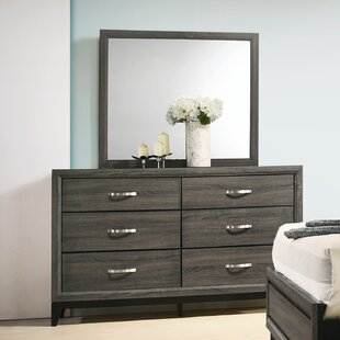 Macy 6 Drawer Dresser with Mirror