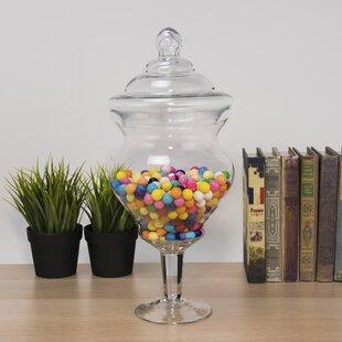 Apothecary Glass Candy Apothecary Jar Set (Set of 6)